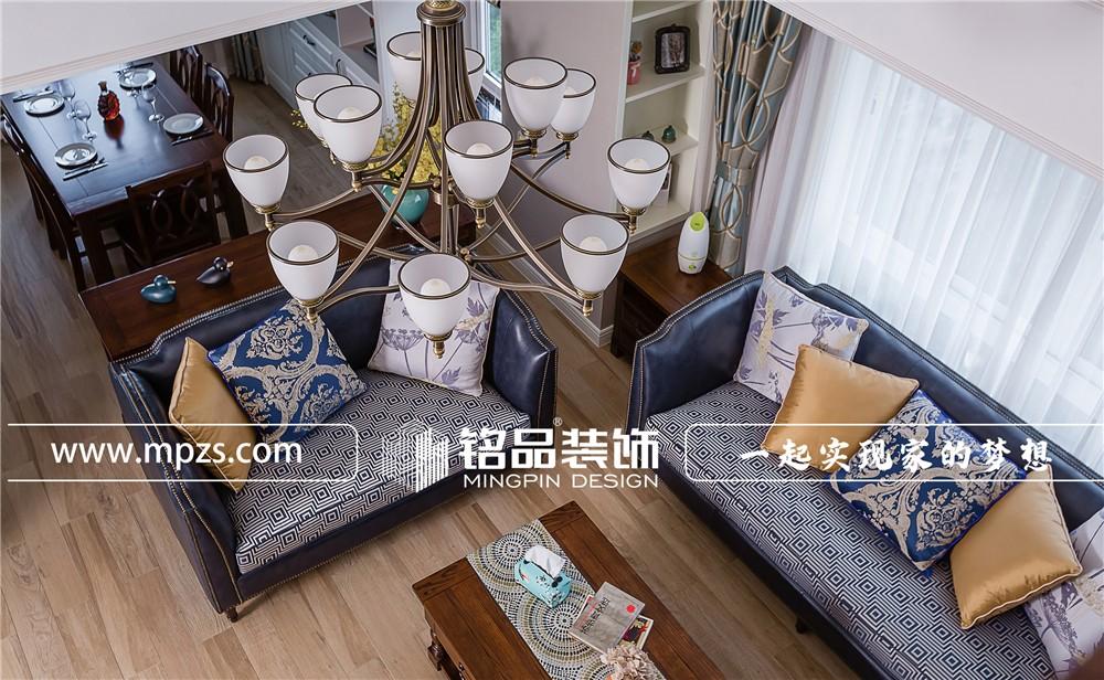 189平方米跃层老房改造美式风格装修案例_效果图-杭州下城区东新园孚信苑