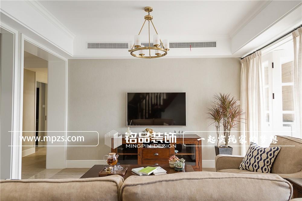 275平方米公寓毛坯新房美式休闲风格装修案例_效果图-杭州临安公园城小区