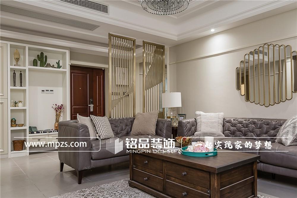 155平方米公寓毛坯新房美式风格装修案例_效果图-杭州临安金色时代