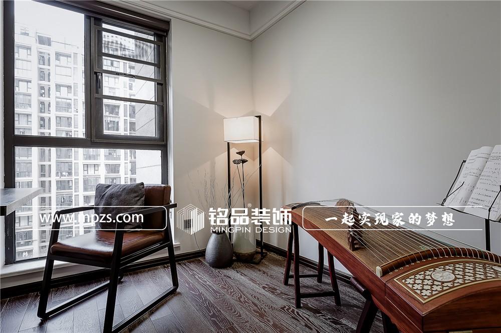 89平方米公寓房毛胚新房新中式风格装修案例_效果图-杭州江干区阳光城翡丽湾