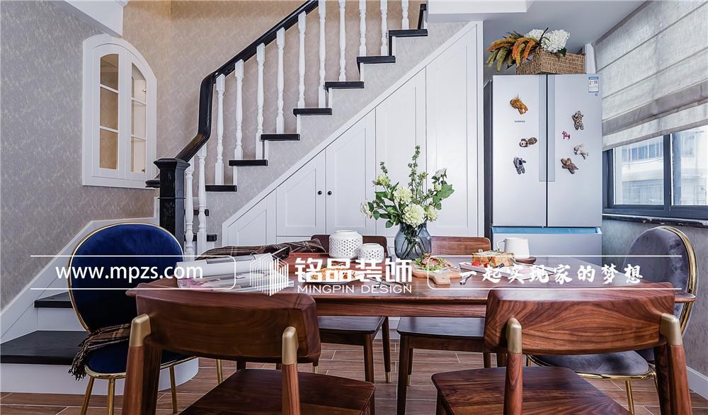 133平方米新房北欧复古风格装修案例_效果图-绍兴渔化府