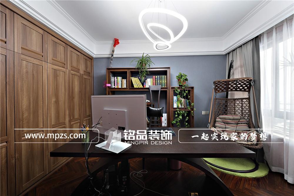 145平方米公寓毛坯新房现代风格装修案例_效果图-杭州富阳三江好望城