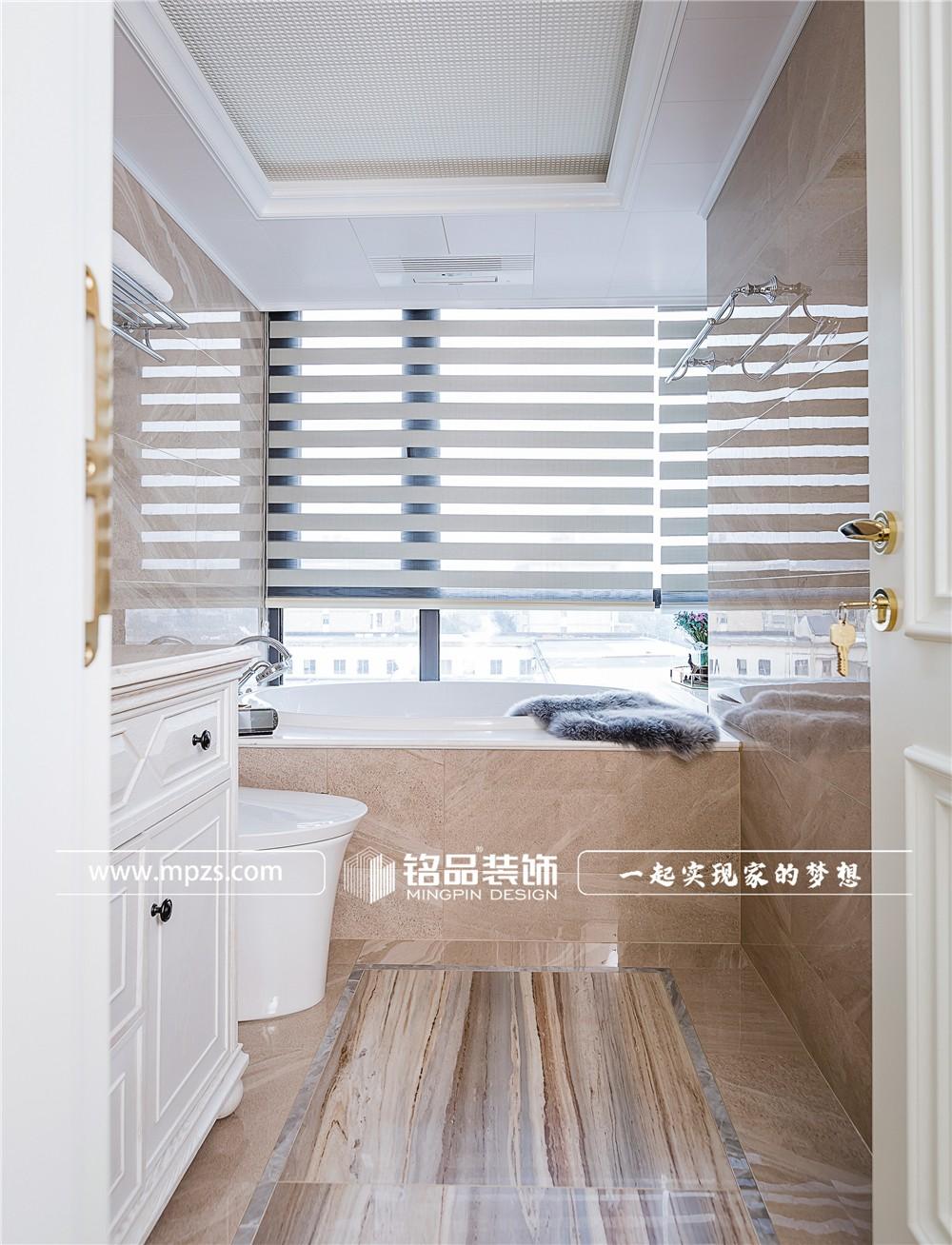 197平方米公寓毛坯新房轻奢混搭风格装修案例_效果图-杭州临安区苕溪河畔