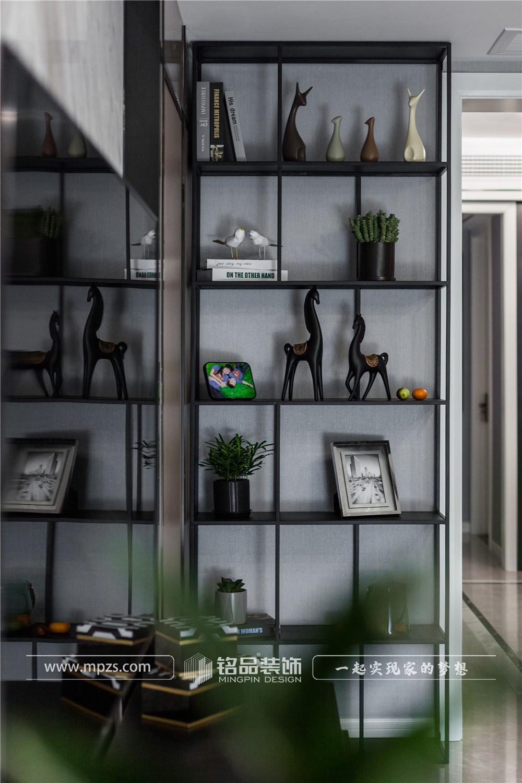 120平方米公寓毛坯新房现代风格装修案例_效果图-杭州江干区东方星城
