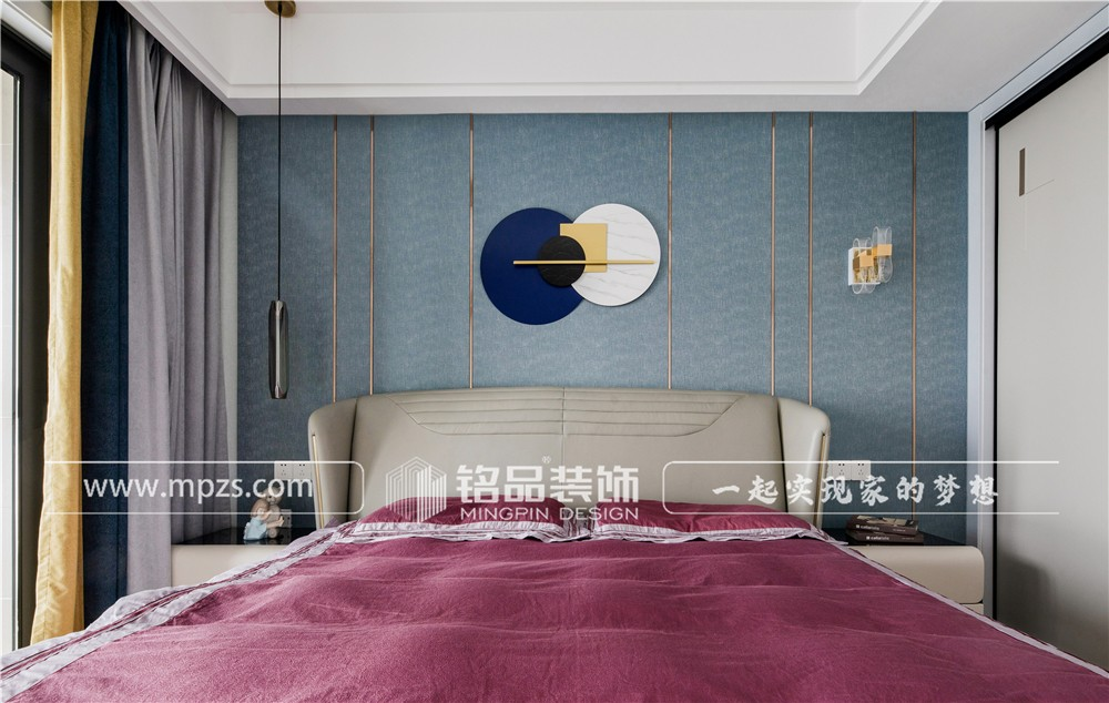 杭州90平方米现代轻奢风格公寓装修案例_效果图