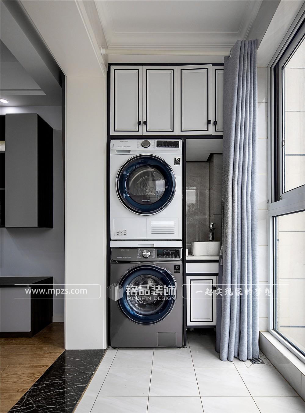 杭州94平方米现代北欧风格毛坯新房装修案例_效果图