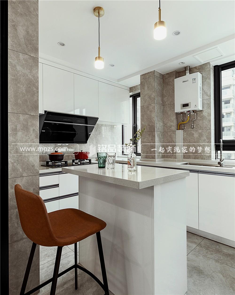 杭州128平方米现代风格毛坯新房装修案例_效果图
