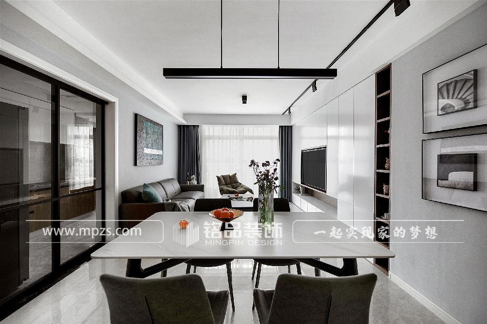 杭州120平方米现代风格公寓装修案例_效果图