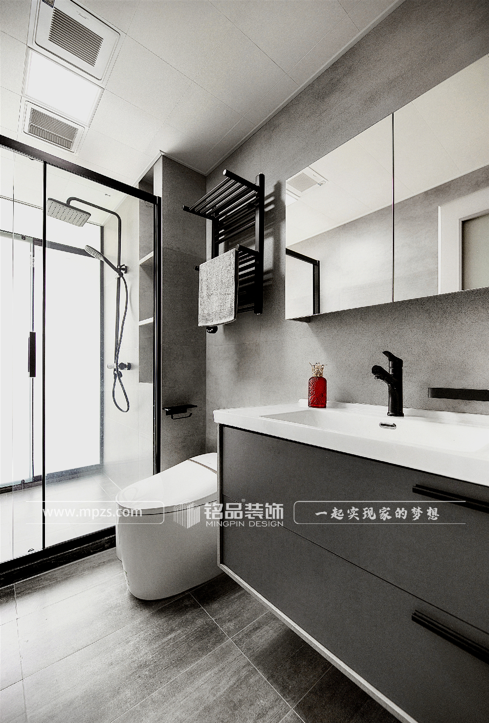杭州120平方米简约风格公寓装修案例_效果图