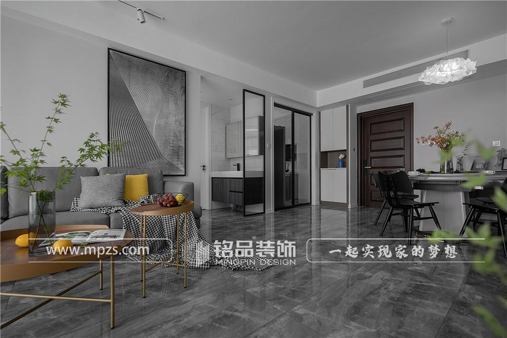 杭州110平方米现代风格毛坯新房装修案例_效果图