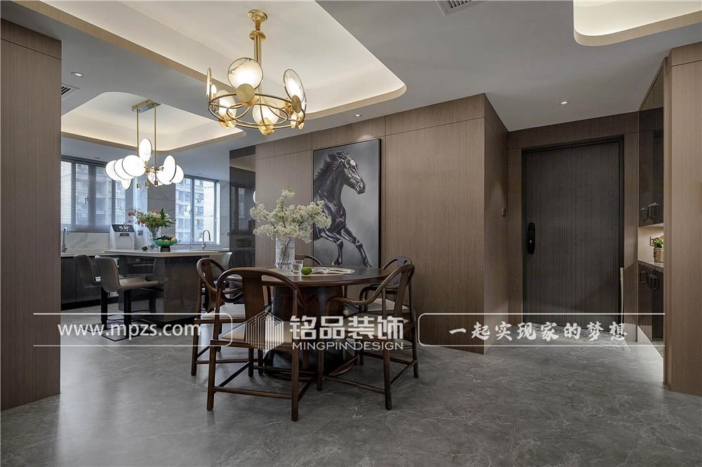 杭州150平方米新中式风格公寓装修案例_效果图