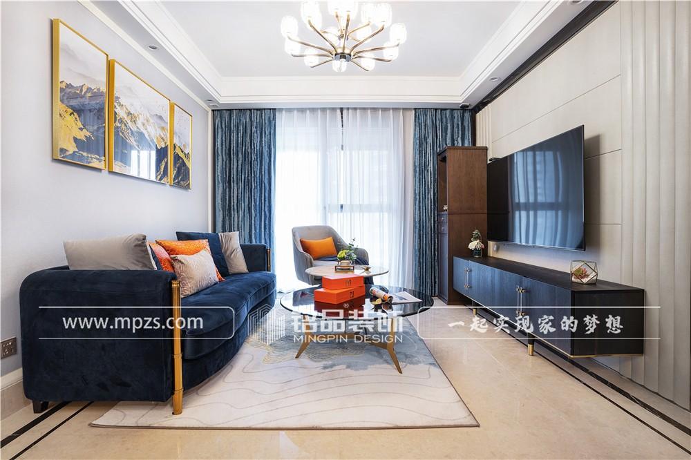 杭州102平方米轻奢约瑟风格平层大宅装修案例_效果图