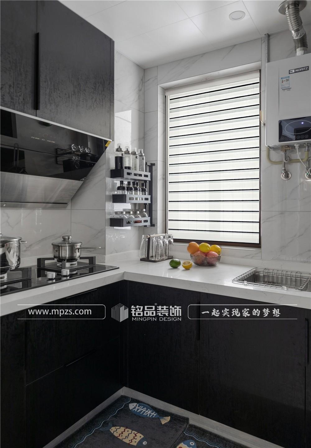 杭州89平方米现代极简风格老房改造装修案例_效果图