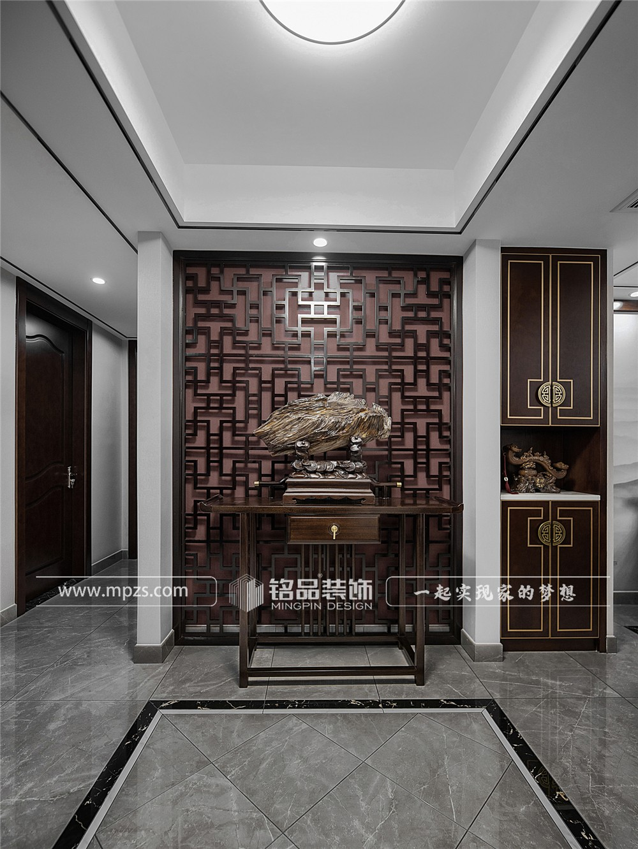 杭州134平方米新中式风毛坯新房装修案例_效果图