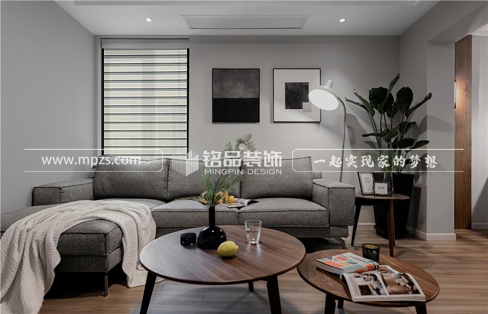 杭州85平方米现代北欧风格公寓装修案例_效果图