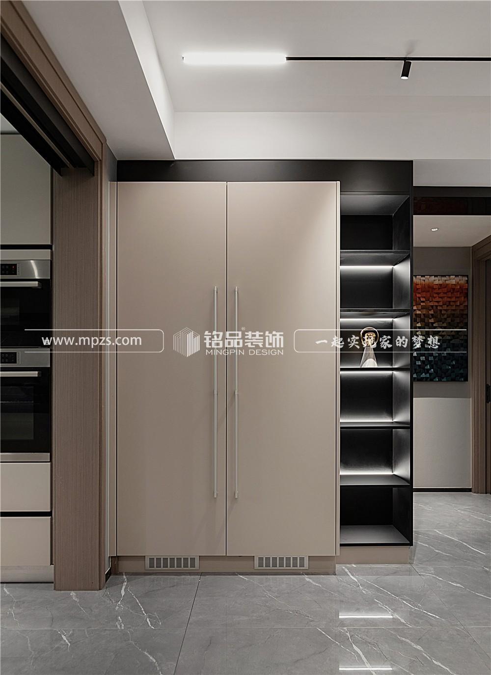 杭州127平方米现代轻奢风格毛坯新房装修案例_效果图