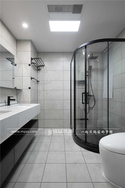 杭州135平方米现代极简风格公寓装修案例_效果图