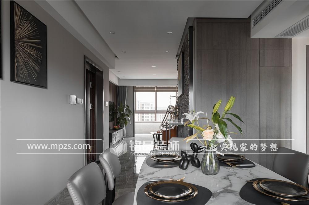 杭州138平方米现代风格公寓装修案例_效果图