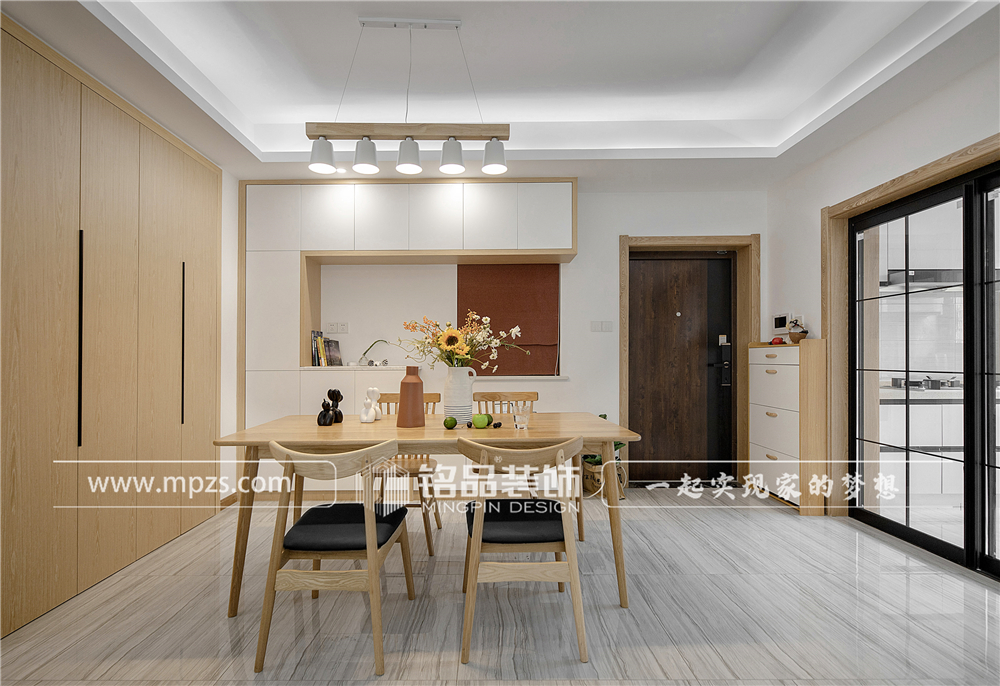 杭州140平方米北欧风格三室两厅公寓装修案例_效果图 (2)