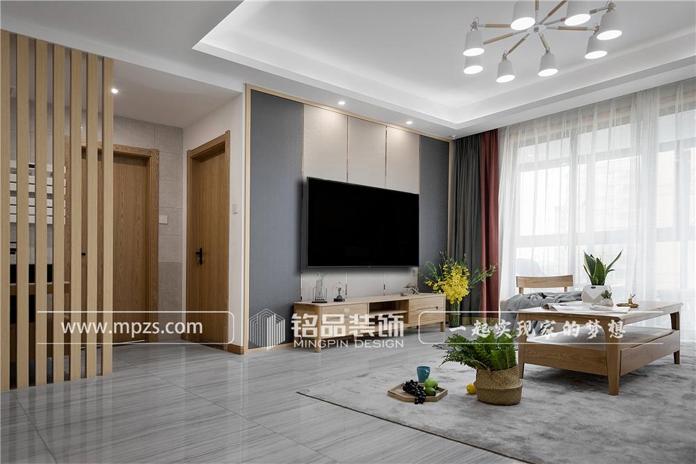 杭州140平方米北欧风格三室两厅公寓装修案例_效果图 (0)