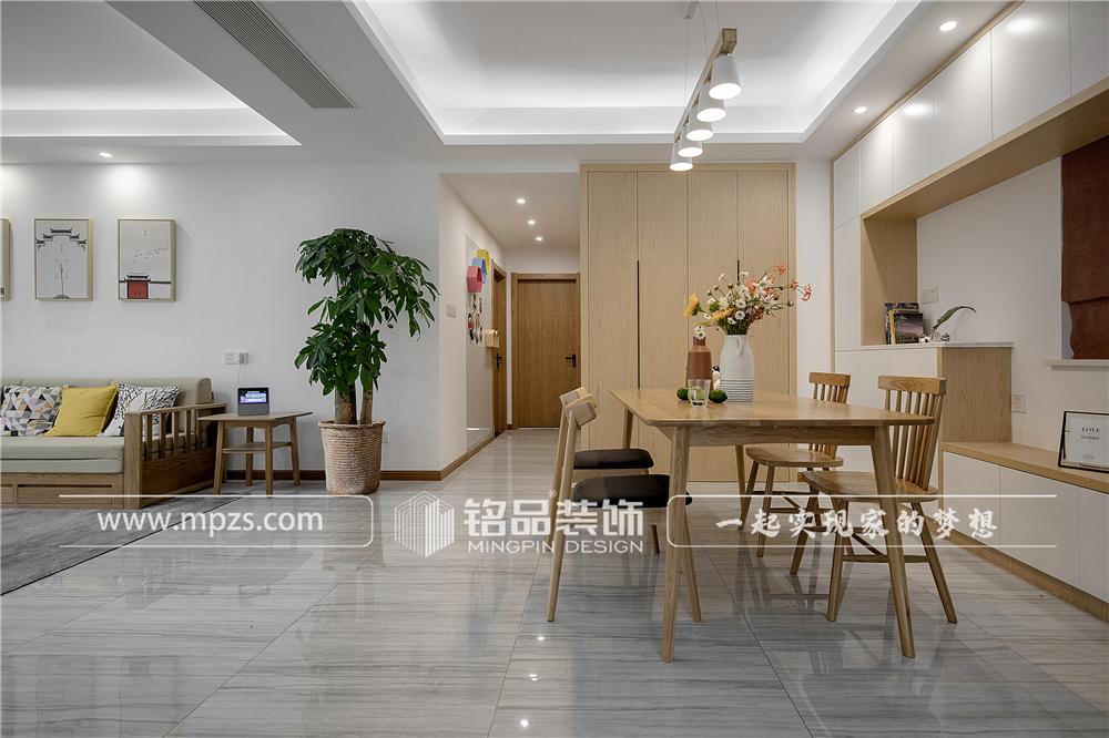 杭州140平方米北欧风格三室两厅公寓装修案例_效果图 (3)