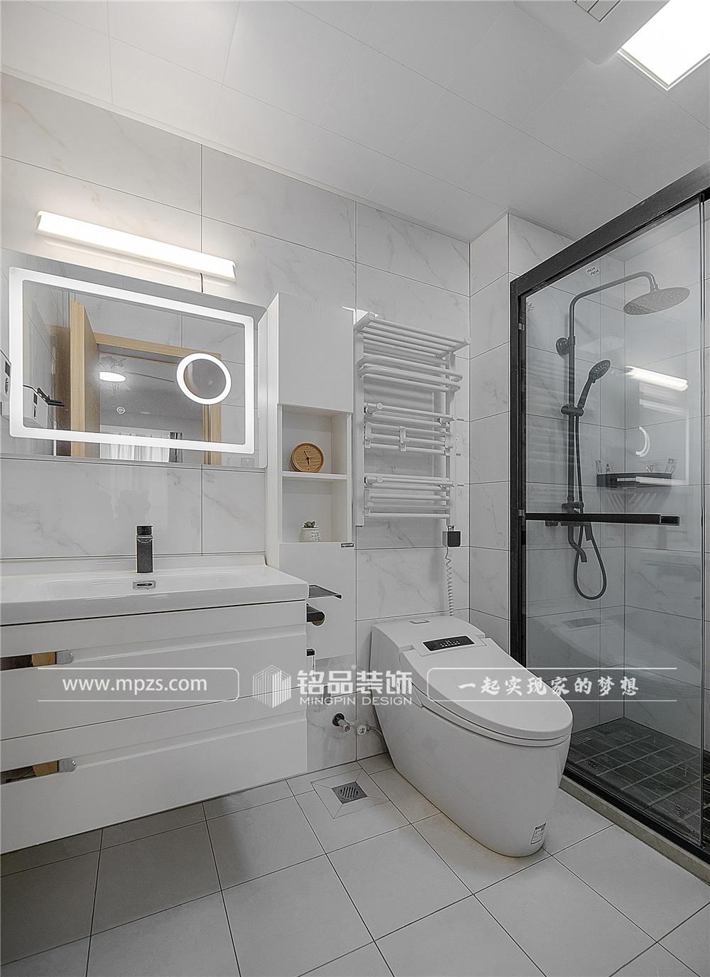 杭州140平方米北欧风格三室两厅公寓装修案例_效果图 (13)