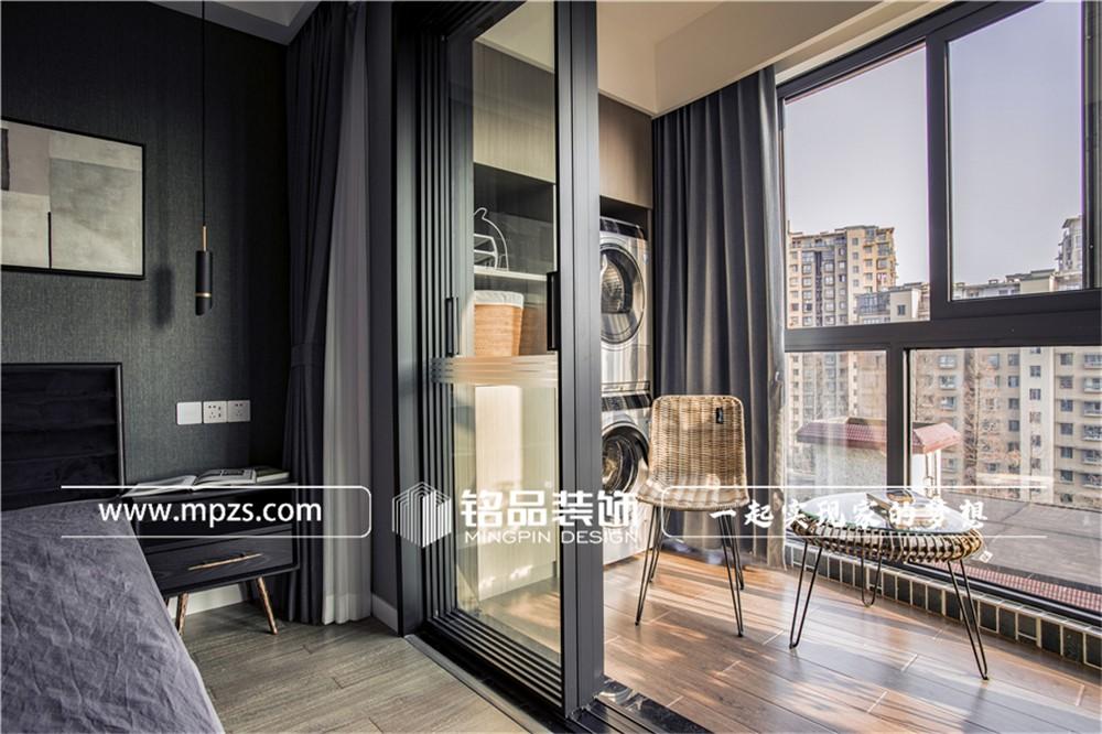 杭州120平方米现代风格老房改造装修案例_效果图