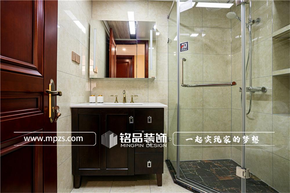 杭州125平方米中式风格三室两厅公寓装修案例_效果图 (8)
